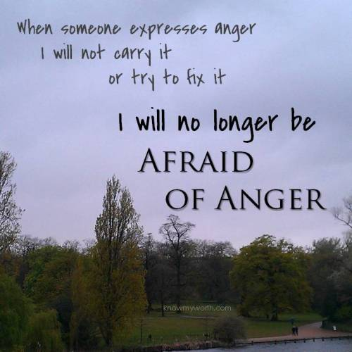 afraid of anger