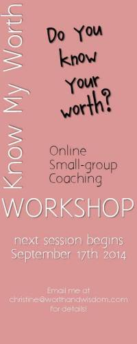Workshop - are you ready to Know Your Worth?